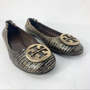 🚨🚨SOLDTory Burch Black and Gold Print lats